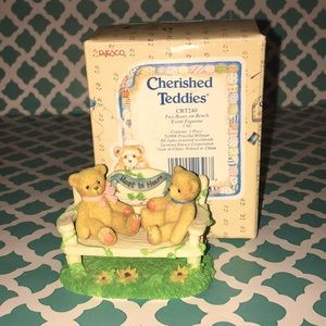 CHERISHED TEDDIES Two Bears On Bench